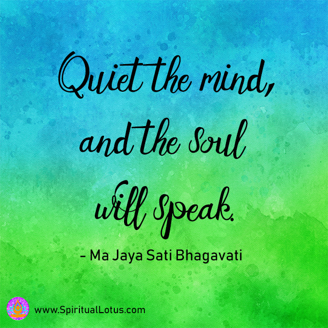 Quiet the Mind Quote